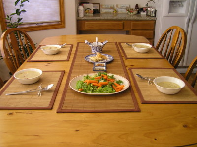 Bamboo table runners placemats 4windsbamboo boulder co - Dining room table mats ...
