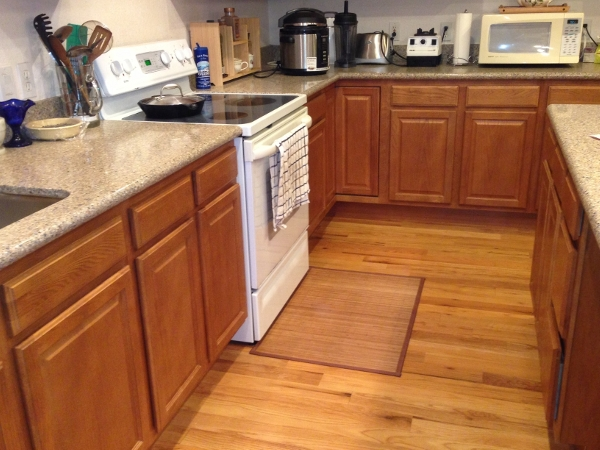 Bamboo Floor Mat Protecting Kitchen Floor
